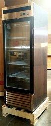 1 Door Upright Stainless Steel Glass Window Freezer