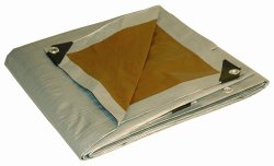 10′ x 12′ Dry Top Heavy Duty Silver/Brown Reversible Full Size 10-mil Poly Tarp item #210125