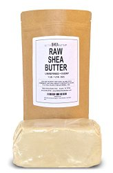 100% Unrefined Organic Shea Butter – African Grade A Ivory – Safe for any Age and Skin Type, Non-Comedogenic
