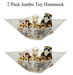 *2 Pack* Jumbo Toy Hammock Net Organize Stuffed Animals