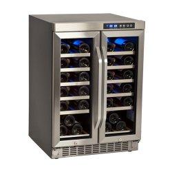 36-Bottle EdgeStar Built-In Dual-Zone French-Door Wine Refrigerator