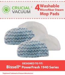 4 Bissell PowerFresh Steam Mop Pads