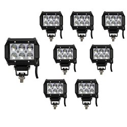8pcs 18w cree led work light For Off-road /SUV/ Boat /4×4/ Jeep