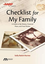 ABA/AARP Checklist for My Family