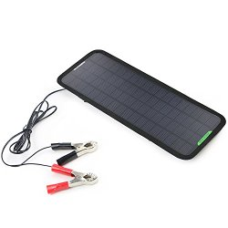 ALLPOWERS™ New 18V 5W Portable Solar Car Boat Power Solar Panel Battery Charger Maintainer for Automobile Motorcycle Tractor Boat Batteries