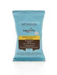 Baby Sunscreen Wipes by MD Moms – Broad Spectrum Water Resistant Sun Screen Towelettes