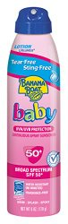 Banana Boat Ultramist Baby Tear Free Lotion SPF 50, 6-Ounces (Pack of 3)