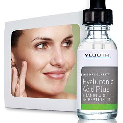 Anti Aging Vitamin C Serum with Hyaluronic Acid & Tripeptide 31 Trumps ALL Others. Maximum Percentage Vitamin-C