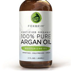 Argan Oil for Hair, Face, Skin and Nails – 100% Pure Certified Organic Argan Oil