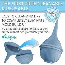 BoogieBulb® Baby Nasal Aspirator – The First True Cleanable & Reusable Baby Nasal Aspirator Syringe