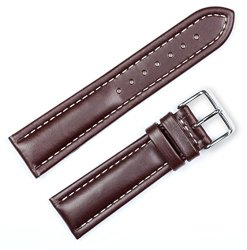 Breitling Style Oil Tanned Leather Watchband Brown 20mm Watch band – by deBeer