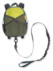 BricaBy-My-Side Safety Harness Backpack, Green/Blue