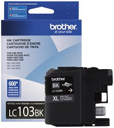 Brother Printer LC103BK High Yield Ink Cartridge, Black
