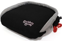 BubbleBum Inflatable Booster Seat, Black/Silver