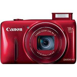 Canon PowerShot SX600 HS 16MP Digital Camera (Red)