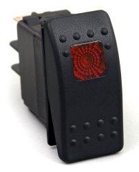 Daystar KU80014 20 Amp Red Light Rocker Switch Kit