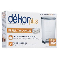 Diaper Dekor Plus Refill, 2 Count
