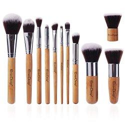 EmaxDesign® Makeup Brushes Professional 11 Piece Makeup Brush Set Bamboo