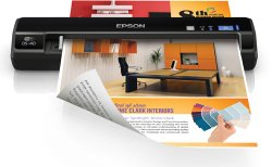 Epson WorkForce DS-40 Portable Wireless Document Scanner, Sheet-Fed & Mobile / Portable for PC & MAC,  WIFi (B11B225201)