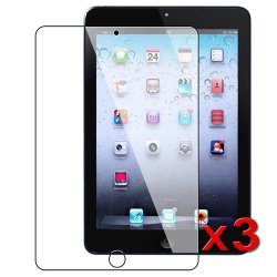 eTECH Collection 3 Pack of Clear Screen Protector for Apple iPad mini