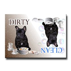 French Bulldog Clean Dirty Dishwasher Magnet No 2