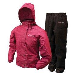 Frogg Toggs Women's All Purpose Rain Suit, Cherry/Black, X-Large