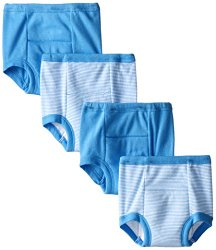 Gerber Little Boys' 4 Pack Striped Training Pants, Blue, 3T