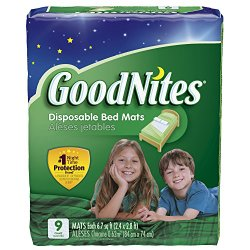 GoodNites Disposable Bed Mats, 36 Count (Packaging May Vary)