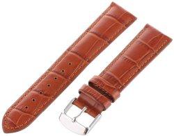 Hadley-Roma Men's MSM898RR-200 20-mm Tan Alligator Grain Leather Watch Strap