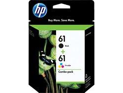 HP 61 (CR259FN) Black/Tri-color Original Ink Cartridges, Combo Pack