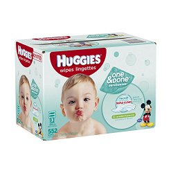 Huggies One & Done Refreshing Baby Wipes Refill, 552 Count