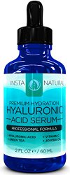Hyaluronic Acid Serum -2OZ!- BEST Anti-Aging Skin Care Product for Face With Vitamin C InstaNatural