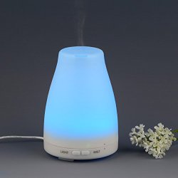 InnoGear 100ml Aromatherapy Essential Oil Diffuser Portable Ultrasonic Cool Mist Aroma Humidifier With Color LED Lights