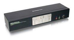 IOGEAR 2-Port Dual View Dual Link DVI KVMP Switch with Audio GCS1642 (Black)