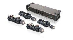 IOGEAR 4-Port DVI KVMP Switch with Audio and 4-USB 2.0