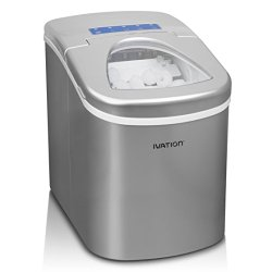 Ivation Portable High Capacity Icemaker w/Easy-Touch Buttons for Digital Operation