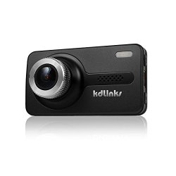 KDLINKS® X1 Full-HD 1920*1080 165° Wide Angle Car Dashboard Camcorder with GPS, G-Sensor, WDR Superior Quality Night Mode, 6-Glass Lens, 2.7″ Screen and 8GB Micro SD included