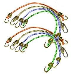 Keeper 06052 10″ Mini Bungee Cord, 8 Pack