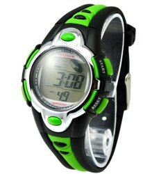 Kids Watches Flash Lights 50m Waterproof Chronograph Digital Sports Watch – Green Color