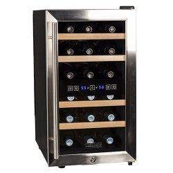 Koldfront 18 Bottle Free Standing Dual Zone Wine Cooler