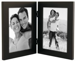 Malden Linear Black Picture Frame holds two 5″x 7″ pictures Vertically
