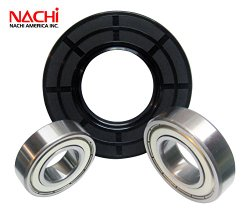 """Nachi High Quality Front Load Maytag Washer Tub Bearing and Seal Kit Fits Tub 280232 (5 year replacement warranty and full HD """"How To"""" video included)"""