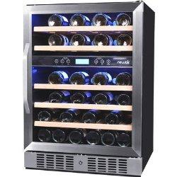 NewAir 46 Bottle Wine Cooler Classic Stainless Steel Design