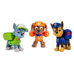 Nickelodeon, Paw Patrol – Action Pack Pups 3pk Figure Set Chase