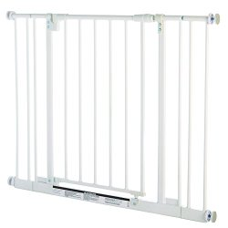 North States Industries Supergate Easy Close Metal Gate, White