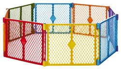 North States Industries Superyard Play Yard, Colorplay, 8 Count