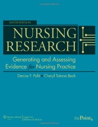 Nursing Research Generating and Assessing Evidence for Nursing Practice 9th Edition