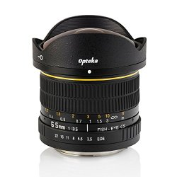 Opteka 6.5mm f/3.5 HD Aspherical Fisheye Lens with Removable Hood for Canon