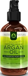 ORGANIC Argan Oil For Hair, Face, Skin & Nails Huge 4OZ Bottle-