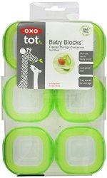 OXO Tot Baby Blocks Freezer Storage Containers – Green